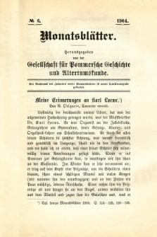 Monatsblätter Jhrg. 18, H. 6 (1904)