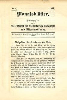 Monatsblätter Jhrg. 19, H. 2 (1905)