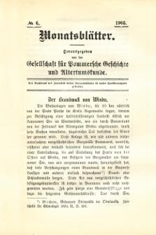 Monatsblätter Jhrg. 19, H. 6 (1905)