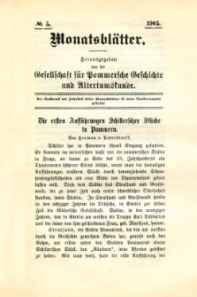 Monatsblätter Jhrg. 19, H. 5 (1905)