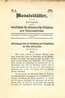 Monatsblätter Jhrg. 19, H. 4 (1905)