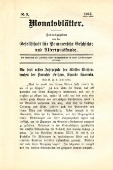 Monatsblätter Jhrg. 19, H. 9 (1905)