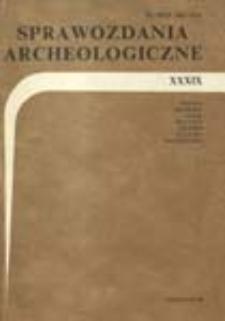 Sprawozdania Archeologiczne T. 39 (1988), Omówienia i recenzje