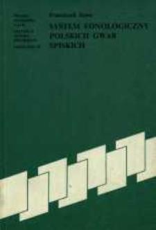 System fonologiczny polskich gwar spiskich