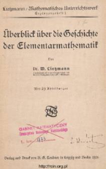 Überblick über die Beschichte der Elementarmathematik