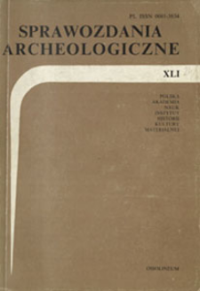 Sprawozdania Archeologiczne T. 41 (1990), Omówienia i recenzje
