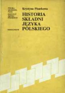 Historia składni języka polskiego