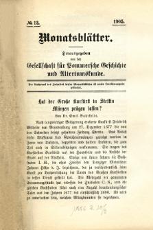 Monatsblätter Jhrg. 19, H. 12 (1905)