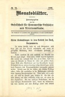 Monatsblätter Jhrg. 20, H. 12 (1906)