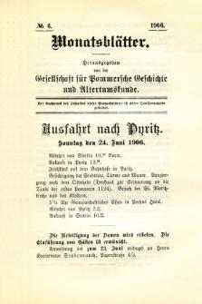 Monatsblätter Jhrg. 20, H. 6 (1906)