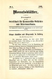 Monatsblätter Jhrg. 20, H. 4 (1906)