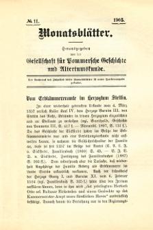 Monatsblätter Jhrg. 19, H. 11 (1905)