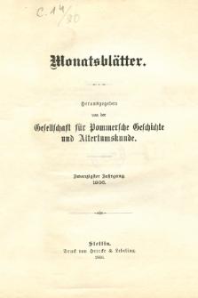 Monatsblätter Jhrg. 20, H. 1 (1906)