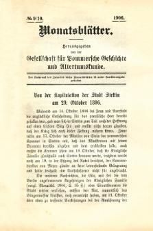 Monatsblätter Jhrg. 20, H. 9/10 (1906)