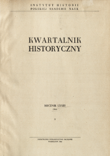 Kwartalnik Historyczny R. 73 nr 3 (1966), Title pages, Contents