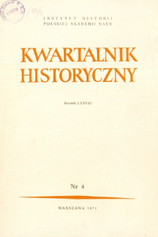Kwartalnik Historyczny R. 78 nr 4 (1971), Title pages, Contents