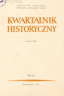 Kwartalnik Historyczny R. 79 nr 2 (1972), Strony tutułowe, spis treści