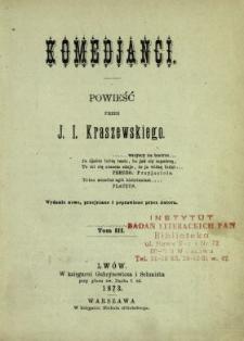 Komedjanci : powieść. T. 3