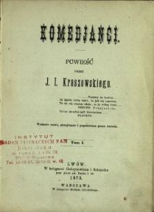Komedjanci : powieść. T.1