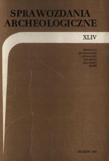 Sprawozdania Archeologiczne T. 44 (1992), Omówienia i recenzje