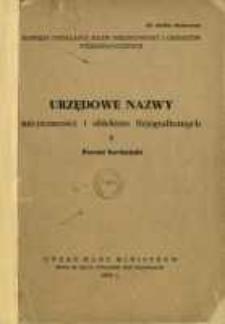 Urzędowe nazwy miejscowości i obiektów fizjograficznych. 2, Powiat bocheński