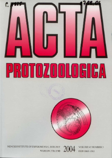 Acta Protozoologica Vol. 43 Nr 3 (2004)