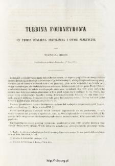 Turbina Fourneyron'a jej teorya dokładna, przybliżona i uwagi praktyczne