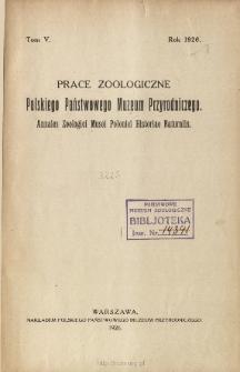 Prace Zoologiczne Polskiego Państwowego Muzeum Przyrodniczego ; t. 5 - Spis treści