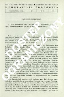 Experimentelle Erfahrungen an Laborzuchten der Pharaoameise (Monomorium pharaonis L., Myrm.)