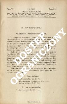 Cladocera Poloniae indigena