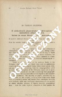 O niektórych pluskwiakach (Heteroptera) zachodnio - afrykańskich : (Z wyników naukowych Polskiej Wyprawy Zoologicznej do Brazylji w latach 1921-1924)