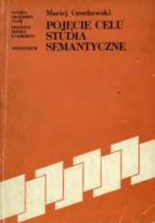 Pojęcie celu - studia semantyczne
