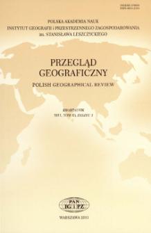 Przegląd Geograficzny T. 83 z. 3 (2011), Spis treści