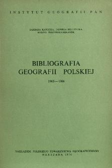 Bibliografia Geografii Polskiej 1965-1966