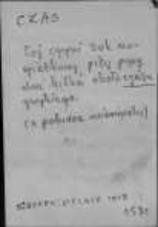 Kartoteka Słownika języka polskiego XVII i 1. połowy XVIII wieku; Czas 2