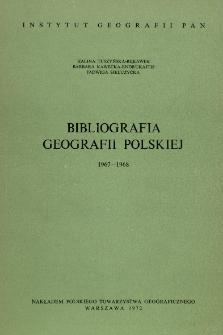 Bibliografia Geografii Polskiej 1967-1968