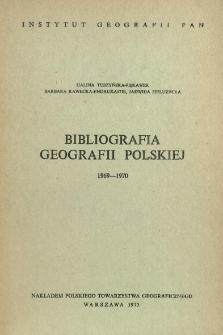 Bibliografia Geografii Polskiej 1969-1970