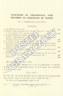 Functions of exponential type bounded on sequences of points