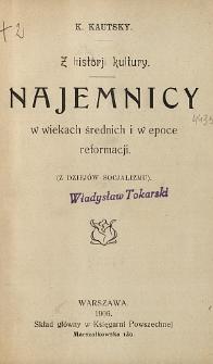 Najemnicy w wiekach średnich i w epoce reformacji : (z dziejów socjalizmu) : z historji kultury