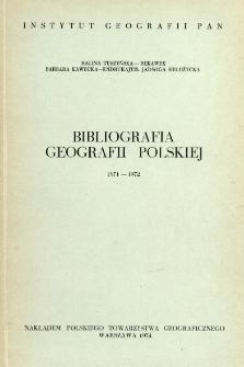 Bibliografia Geografii Polskiej 1971-1972