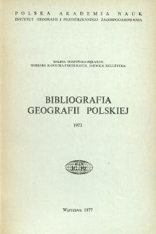 Bibliografia Geografii Polskiej 1973