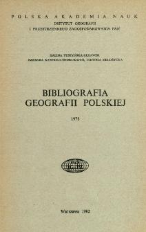 Bibliografia Geografii Polskiej 1978