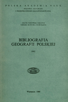 Bibliografia Geografii Polskiej 1982