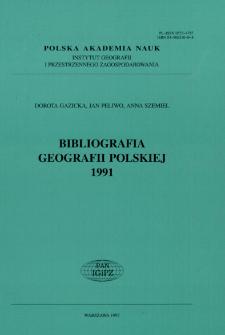 Bibliografia Geografii Polskiej 1991