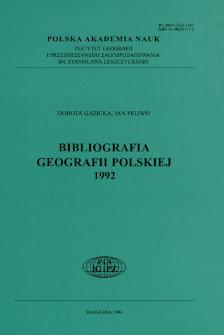 Bibliografia Geografii Polskiej 1992