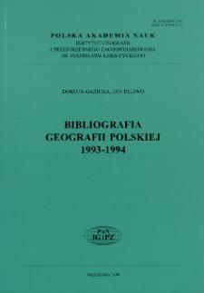 Bibliografia Geografii Polskiej 1993-1994
