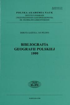 Bibliografia Geografii Polskiej 1999