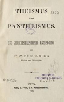 Theismus und Pantheismus : eine geschichtsphilosophische Untersuchung