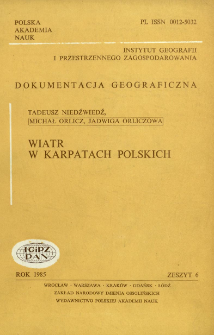 Wiatr w Karpatach polskich = Wind in the Polish Carpathian mountains
