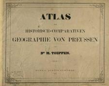 Atlas zur historisch-comparativen Geographie von Preussen